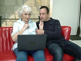 Whorish Granny Norma Gets Intimate With One Hot Blooded Youthful Dude