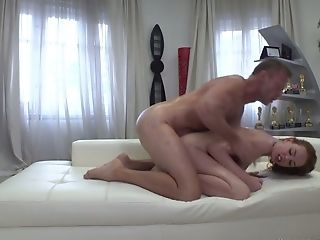 Crimson Haired Chick Candy Crimson Is Slurping Rocco Siffredi's Assfuck Crevice