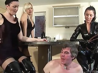 Female Dominance Mistresses Subjugate Old Stud