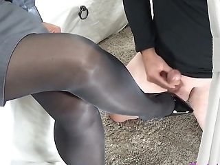 Mistress Female Dom Gam Job Pantyhose Tugjob