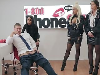 Three Excellent Sweeties Demonstrate They Can Have Not Only Phone Fuck-a-thon