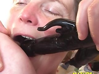 Big-titted Older Bbw Has Some Joy With A Large Black Fuckfest Equipment