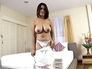 Thai Gal With Massive Natural Tits Gets Creampied