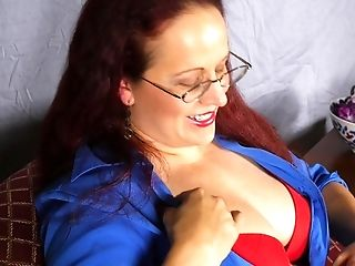 Lengthy Haired Matures Ginger-haired Laila M. Pounds Her Cooch With Playthings