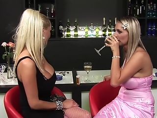 Erotic Fucking On A Bar With Janet Alfano And Hot Sharon Pink