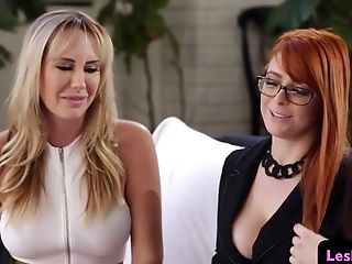 Glamcore Ginger-haired Seduced Into A Threeway