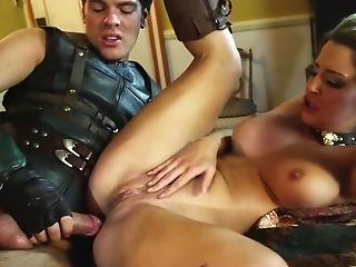 Buxom Mummy Goes After A Cool Biker And Has Buttfucking With Him