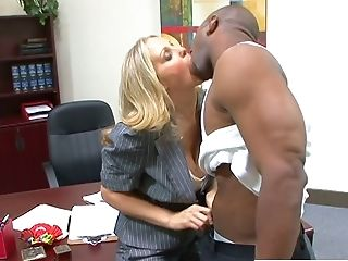 Big-boobed Blonde Manager Julia Ann Gets Kinder Seen Hard Boner Big Black Cock In Front Of Her