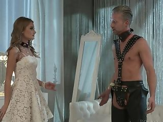 Lecherous Mistress Tiffany Tatum Penalizes Her Obedient Dude On A Leash