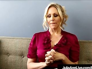 Dirty Talkin Mummy Instructor Ms. Julia Ann Trains Getting Off