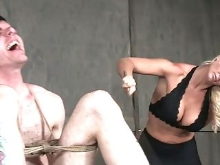 Perverted Mistress London Sea Penalizes Her Tied Up Man In The Sadism & Masochism Room