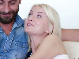 Blue Eyed Blonde Bree Tease Bj's A Thick Dick And Gets Her Slit Opened Up