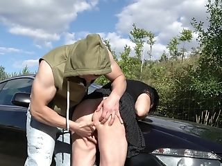 Matures Granny With Brief Hair Libuse Force Fed Pecker Outdoors
