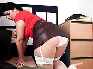Office Gal Captivates You With Her Big Donk And Titties