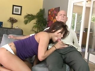 Senior Man Fucks Asian Gash And Loves The Bellows She Makes