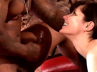 Bobbi Starr Deep-throats A Black Monster Implement Before An Anal Invasion Fuck