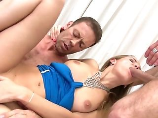Hot Blooded Dude Rocco Siffredi And His Friend Fuck One Super-cute Nubile