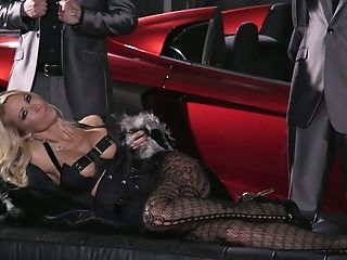 Two Cocky Dudes Fuck Both Crevices Of Bodacious Elite Hooker Jessica Drake
