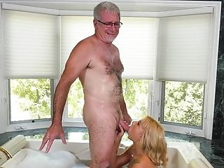 Old Man Seduced By Friend's Super-naughty Blonde Granddaughter
