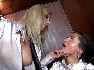 Bianca And Erica Fox In A Raunchy Orgasmatic Love In The Elevator.