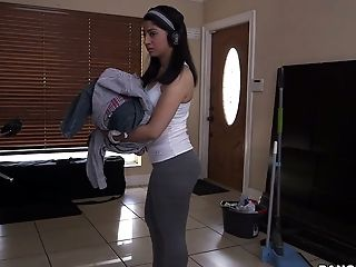 Thrilled Brown-haired Bimbo Nadia Ali Gets Drilled Hard