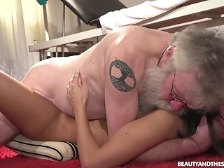 Bearded Old Man Licks Moist Coochie Delicious Cunny Of Charming Angela Allison