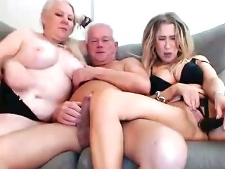 Grand-ma And Grandfather Threesome With Niece