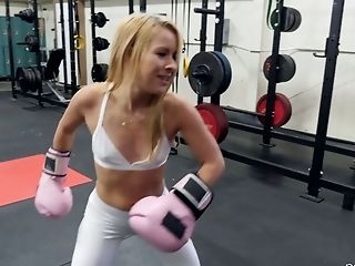 Boxing Coach Fucks Deep Mouth And Humid Cunt Of Sport Chick Lilly Lit