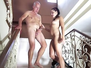 Dick Longing Chick Wants To Be Fucked By A Lucky Grand-pa