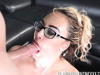 Cougar Claudia Valentine Shows How Deep She Can Suck That Lollipop