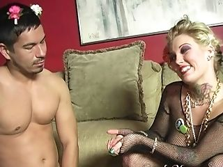 Horny Black Fellow Fucks Candy Monroe In Front Of Her Bf