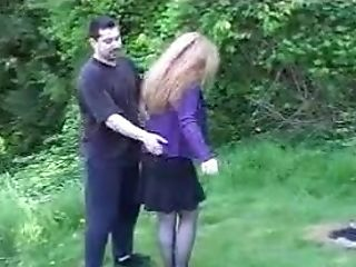 Hot Outdoor Spanking