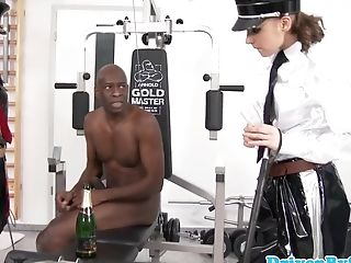 Female Dom Honies Big Black Cock Fuck Toy Cums On Their Boots