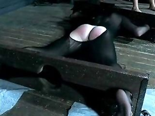 Hard Caning Leaves The Restrained Woman In Agony