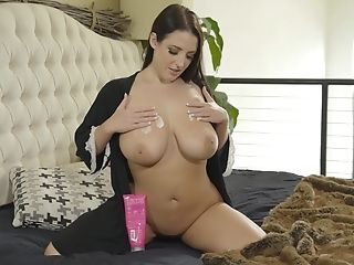 Witness Amazing Jizm On Large Tits After Hookup With Angela Milky
