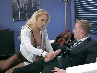 Youthfull Stunner Gives Fellatio And Fuckbox To Stepfather In His Office