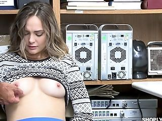 Blue Eyed Nubile Beauty Aften Opal Coerced To Fuck For Shoplifting