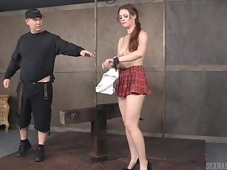 Blonde Teenager Whore In A Miniskirt Nora Riley Manhandled Xxx With Big Dick