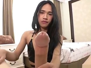 Trampy Asian She-creature Gets Barebacked Hard Point Of View Style