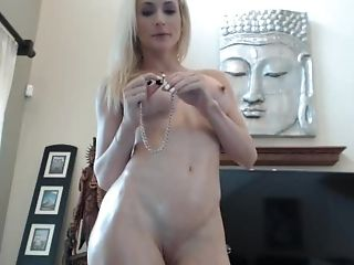 Blonde Webcam Princess 24 - Oiled Up And Chained Squirt