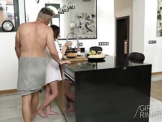 Rimjob Morning With Hot Brown-haired Gina Ferocius