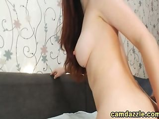 Petite Dark Haired Shows Taut Knockout Bod Live