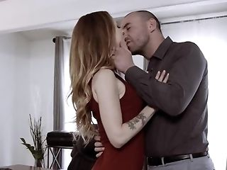Fatty Man Loves Obeying To Beautiful Chick In His Office