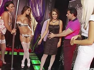 Unclothe Bar Orgy With Gemma Massey And Her Stripper Supersluts