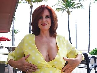 Inexperienced Flick Of Perverse Red-haired Wifey Andi Flashing Her Breasts