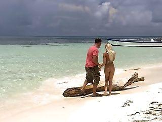 Smoking Hot Boroka Bolls Takes Care Of A Fat Dick On The Beach