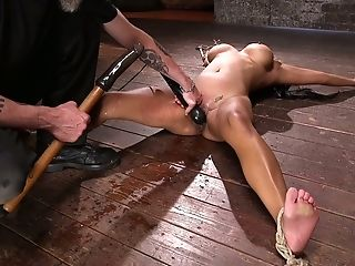 Asian-canadian Sexpot Maxine X Gets Ball-gagged And Tied Up Indeed Hard