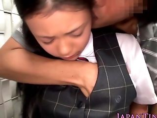 Facefucked Japanese Little Takes Cuminmouth