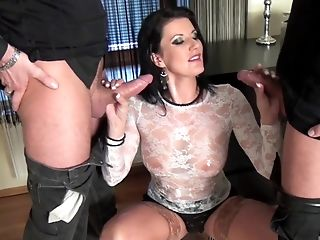 Beautiful Honey Likes When Two Guys Fuck Her At The Same Time