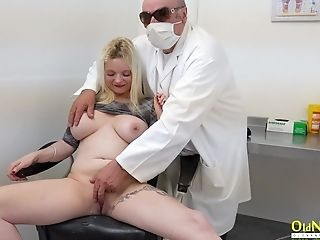Chubby Matures Patient Angela Lee Gets Her Cunt Examined Hard